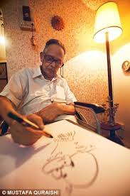 Laxman drawing common man