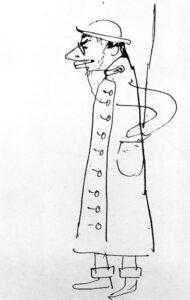 Self-Portrait.-Caricature