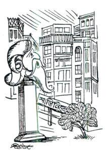 Cartoon e Rabindranath_ Saila Chakrabarty